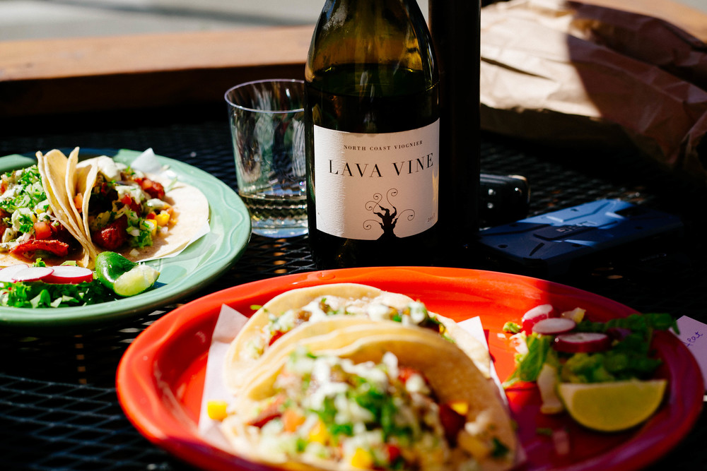 The ultimate pairing -2012 North Coast Viognier + Fish Tacos