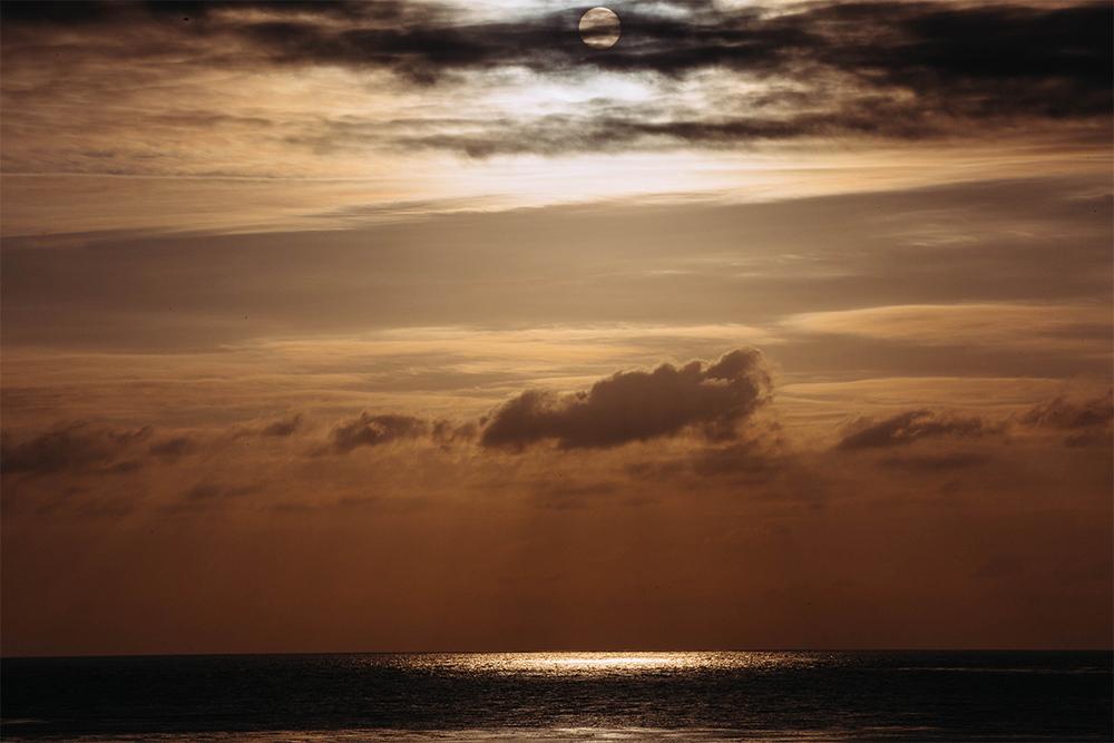 Sunset at the beautiful Carmel Beach