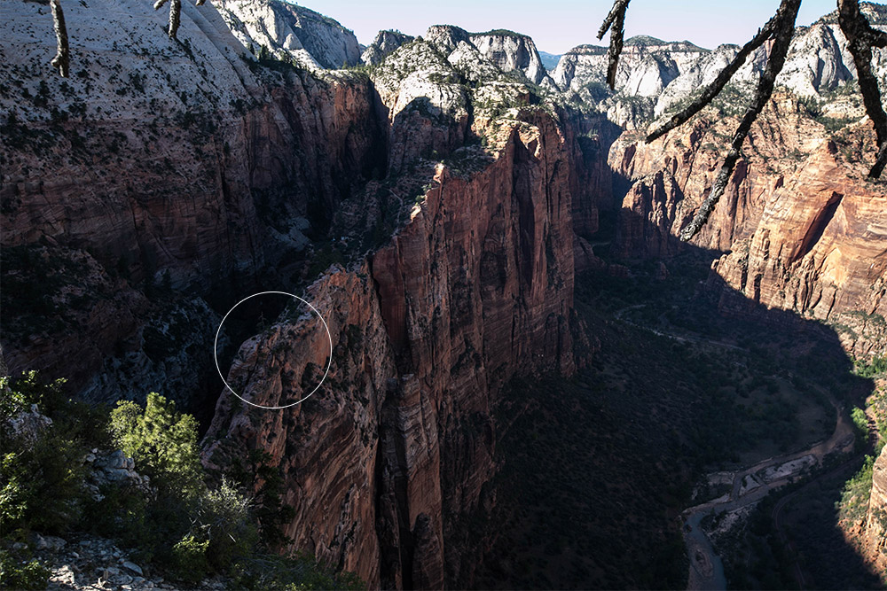 The narrowest & most fun part of the climb to Angel's Landing