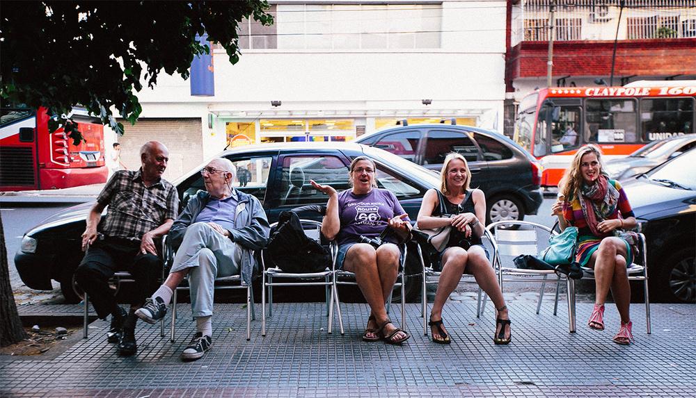 Ice Cream break in Bodeo with Liane, Amelia and Carmel