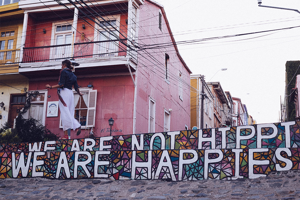 We are not hippie, we are happies