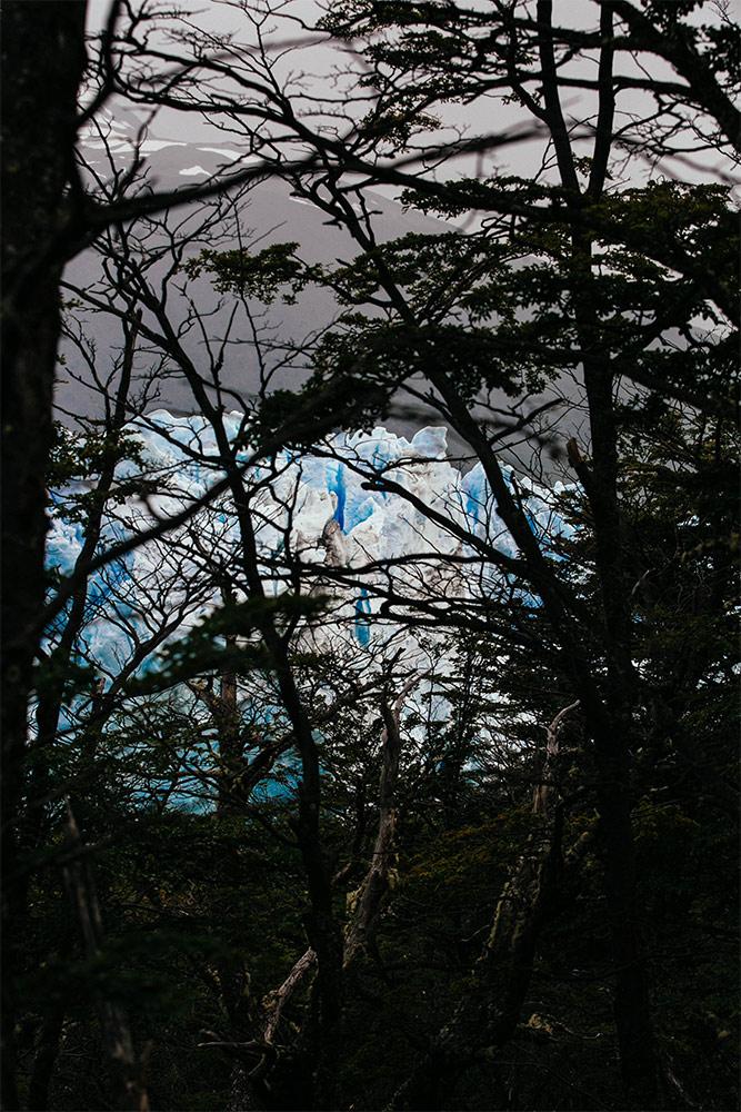 Peek-a-boo:Perito Moreno Glacier