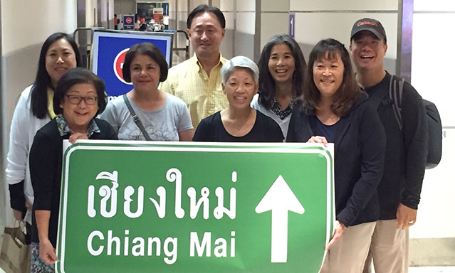 2018 Thailand Medical Missions Team: (l-r) Denna, Irene, Zohreh, Fred, Carol, Pam, Karen, Jason