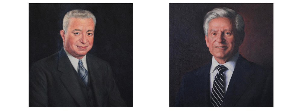 "Jacob ""Jack"" Weinberg pictured left. Louis ""L.A."" Weinberg on right. These portrait paintings remain at the Weinberg estate."