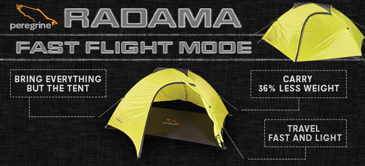 In Fast Flight Mode all you need is the Fast Flight Footprint the poles and rainfly. This ultralight variation of the Radama tent saves space and weight ... & Radama 2 u2014 Peregrine Equipment