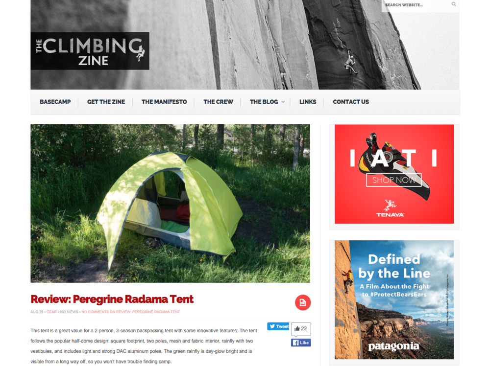 Read the full review here.  sc 1 st  Peregrine Equipment & Gear Review: Peregrine Radama 2 Tent u2014 Peregrine Equipment