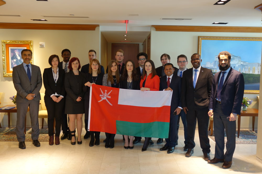NMUN Delegation 2015 at the Permanent Mission of the Sultanate of Oman