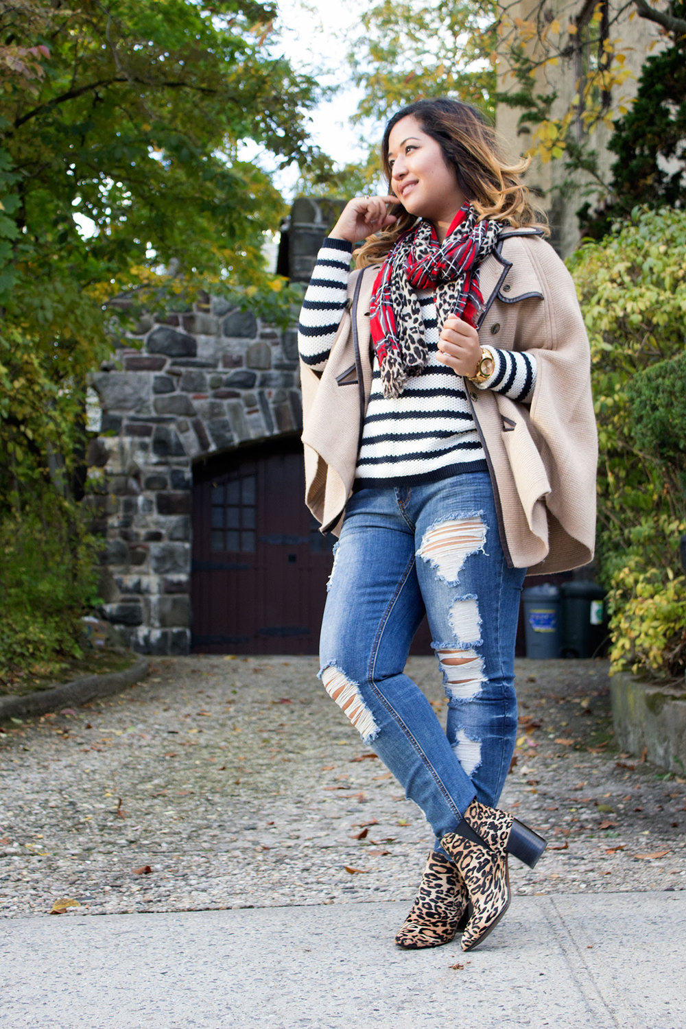 Cape, stripes, plaid, & cheetah www.krityshrestha.com
