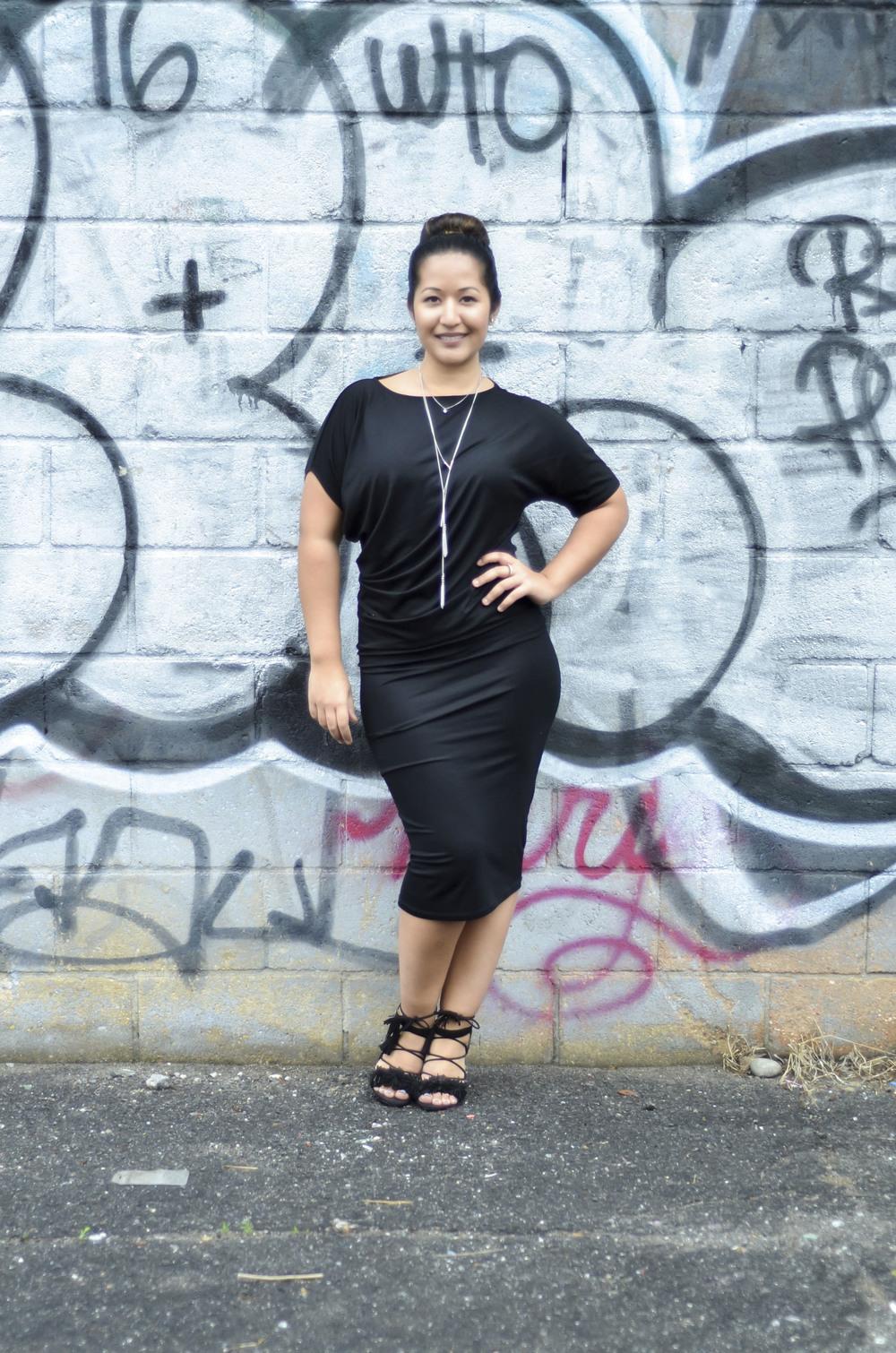 Black Draped Jersey Dress1.jpg