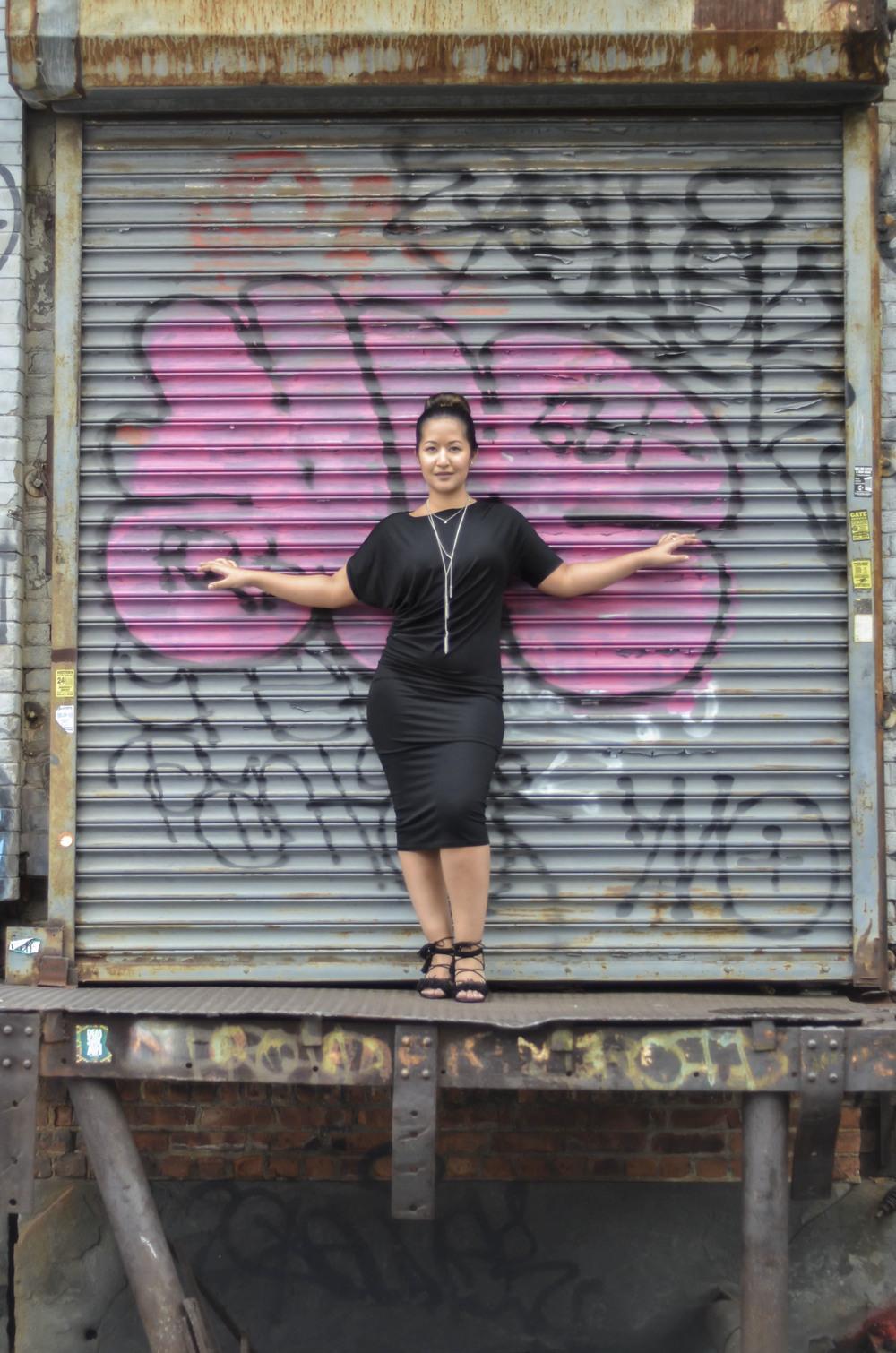 Black Draped Jersey Dress6.jpg