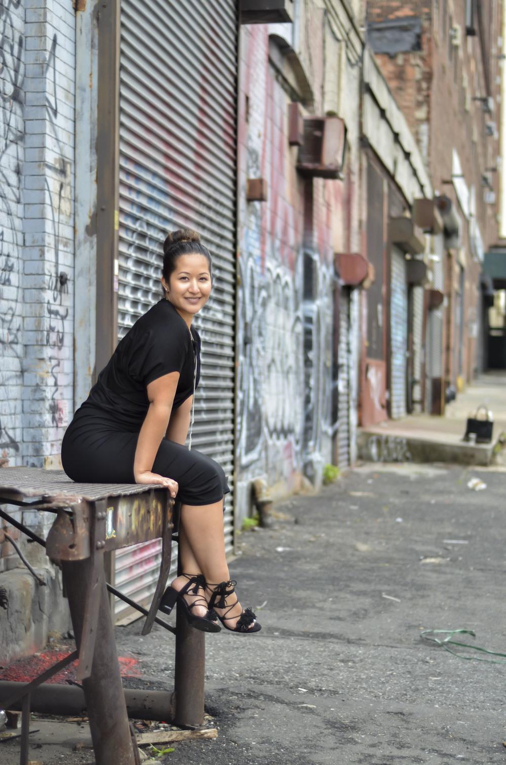 Black Draped Jersey Dress7.jpg
