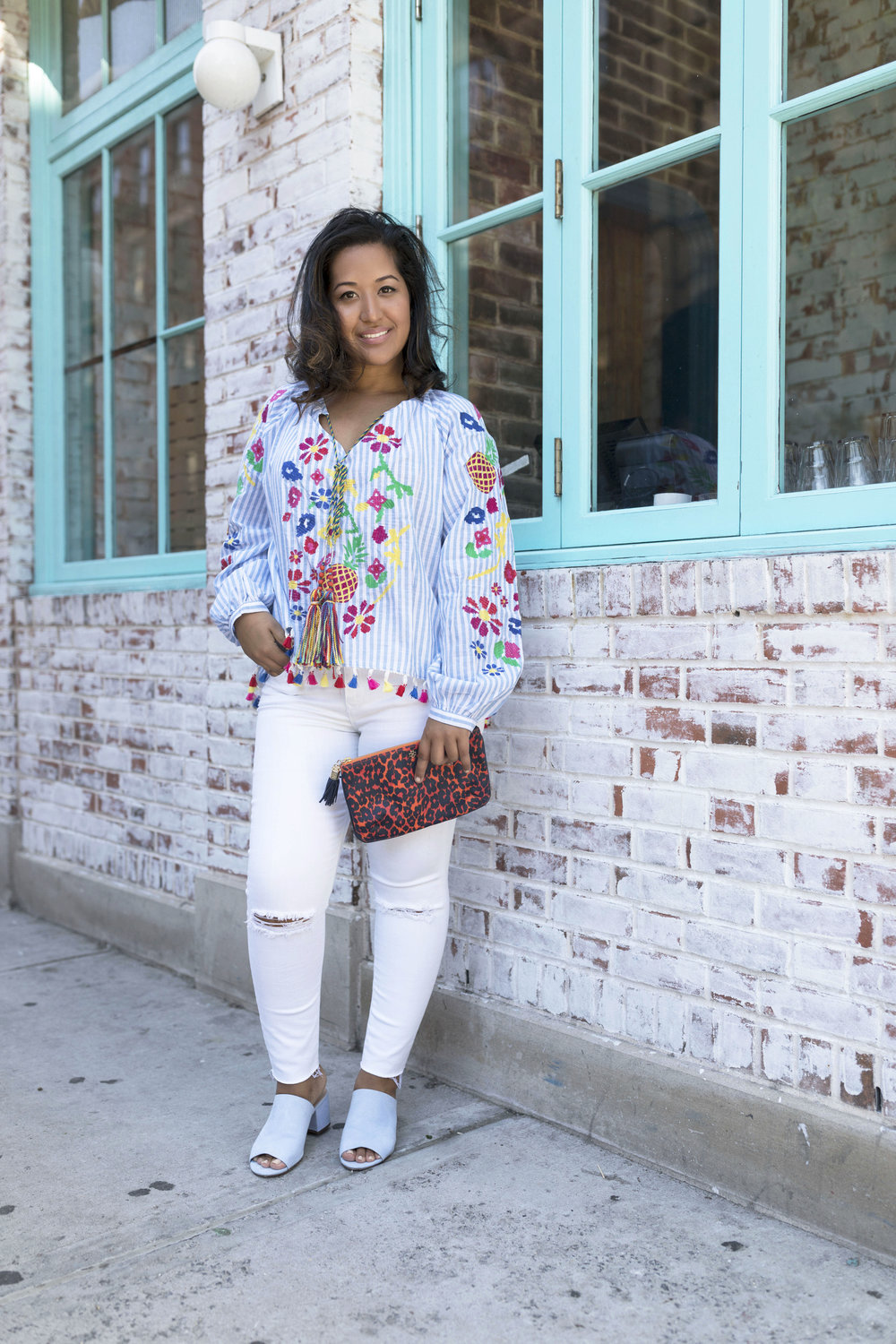 Krity S x Zaful x Stripped Embroidered Blouse