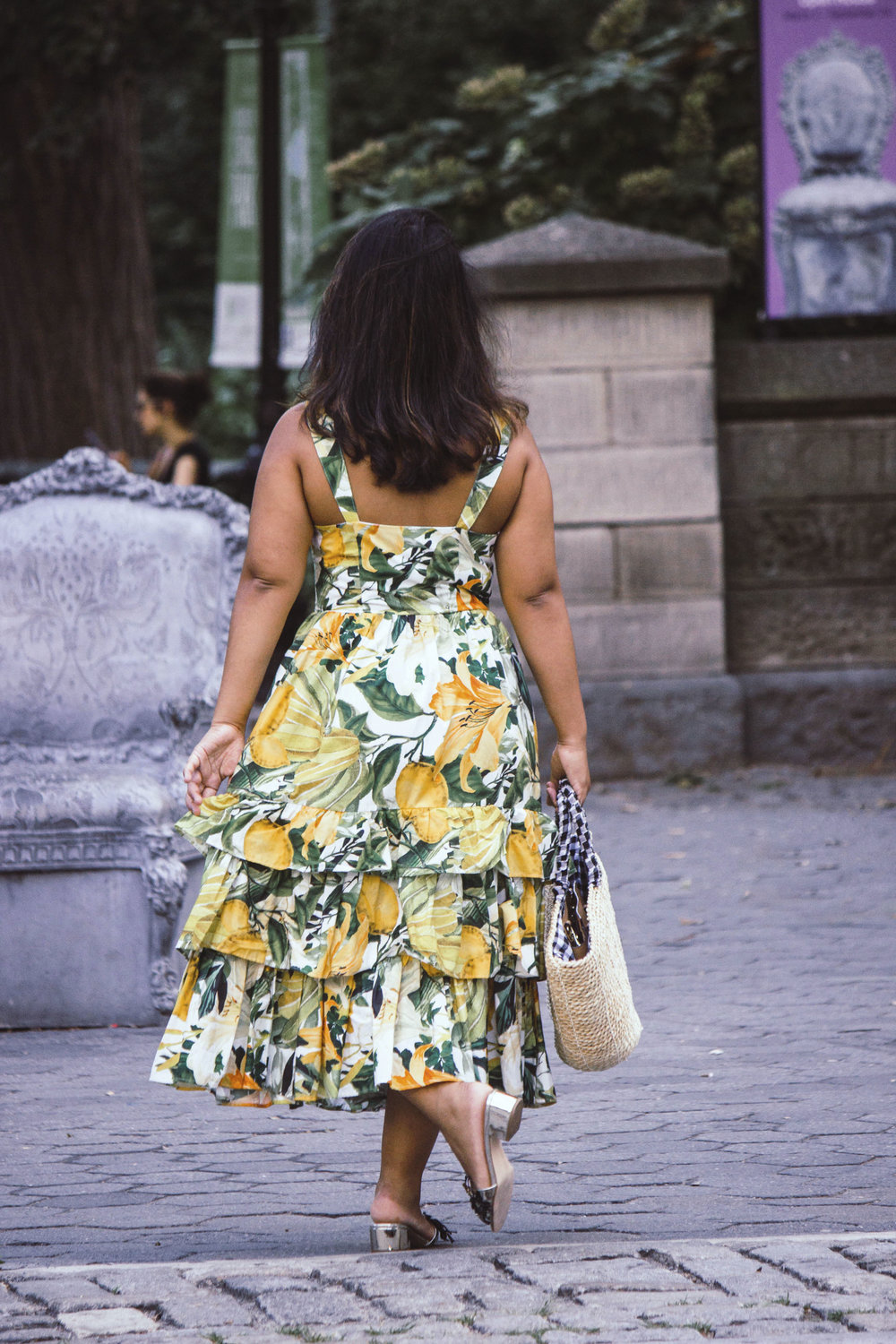 Lemon Print Dress H&M Krity S