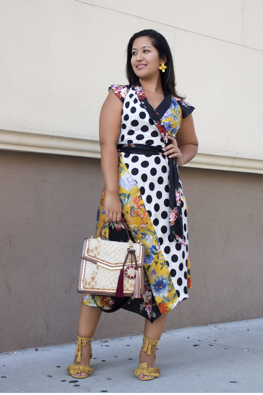 Summer Look x Printed Zara dress