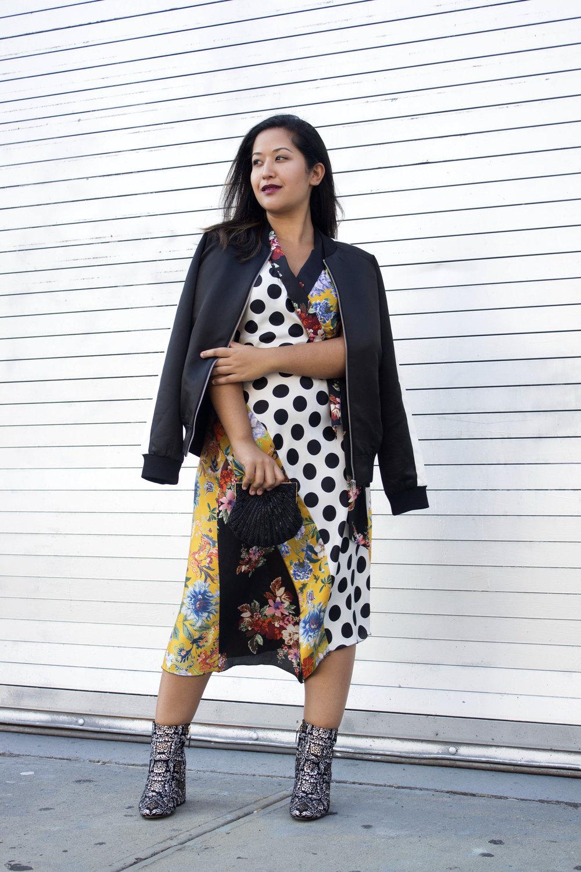 Fall Look x Printed Zara Dress