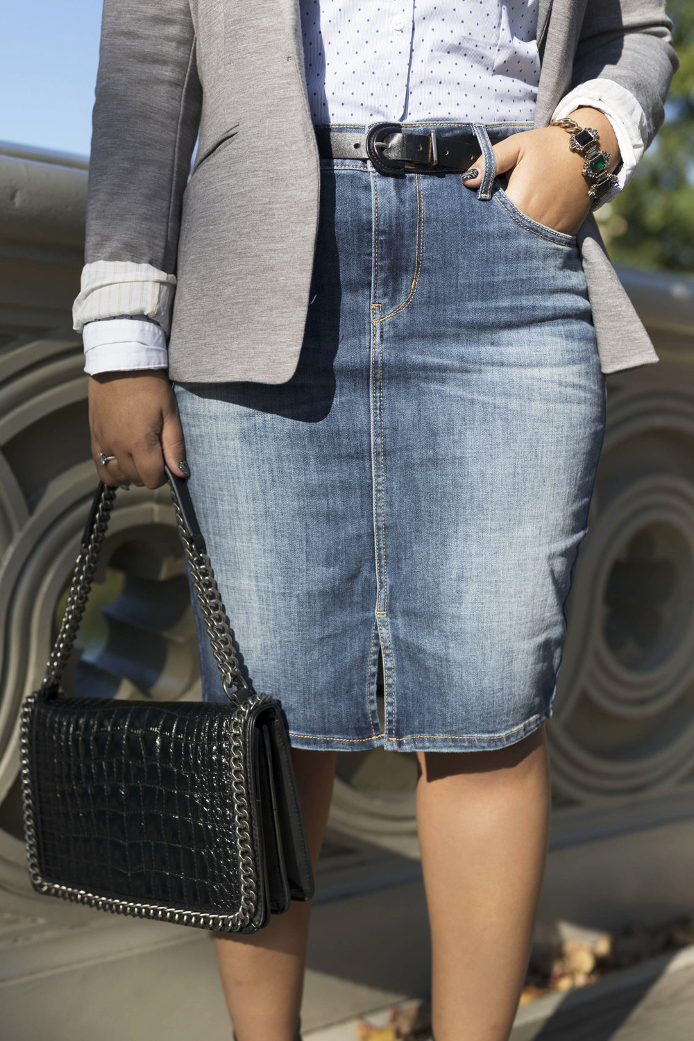 Krity S Walmart Signature Levi Denim Skirt