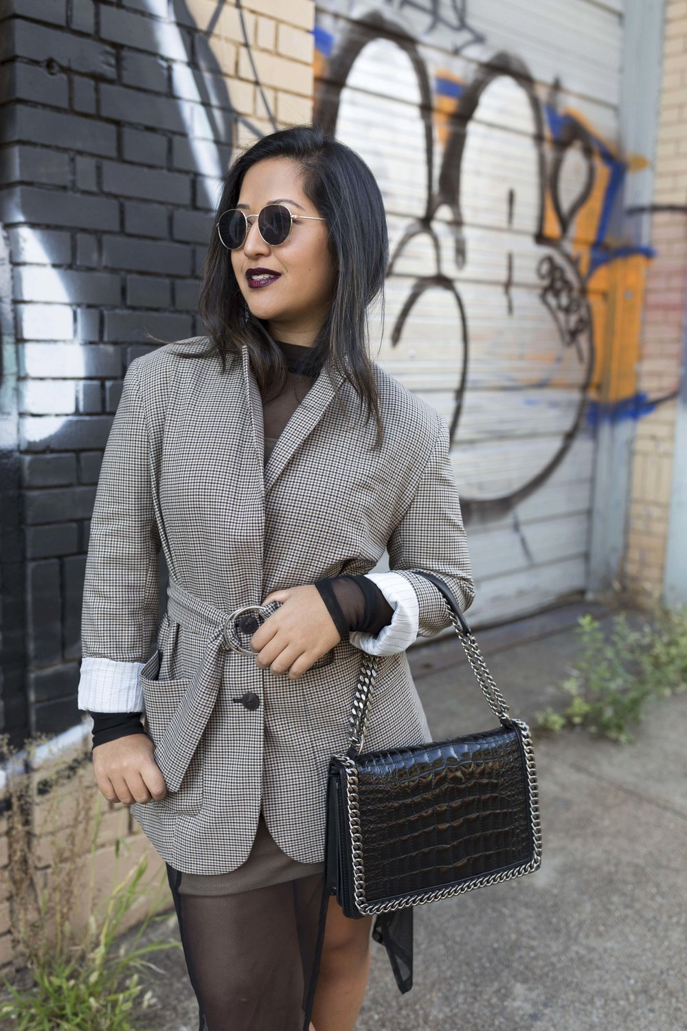 Checkered Blazer Outfit Krity S Fall Look
