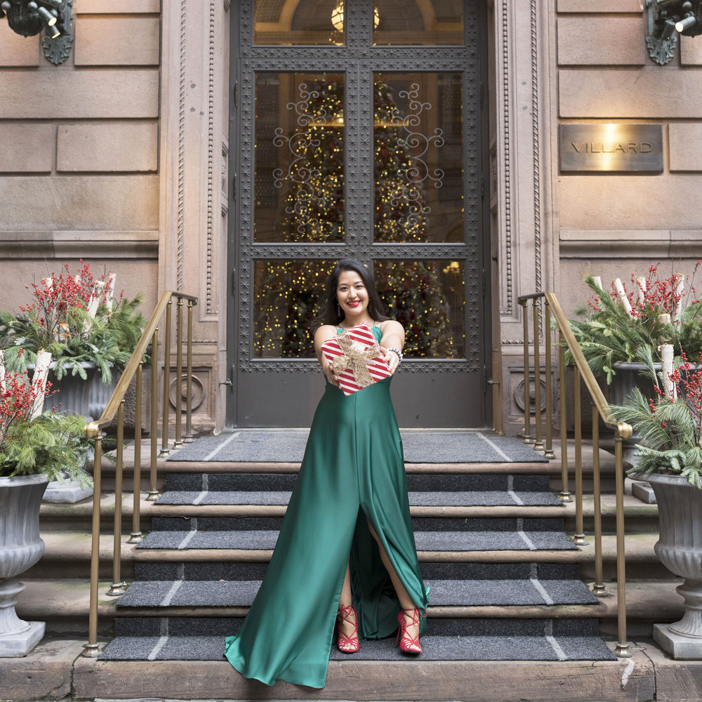 Krity S x Holiday Outfit x Forest Silk Aidan Mattox Gown 2.jpg