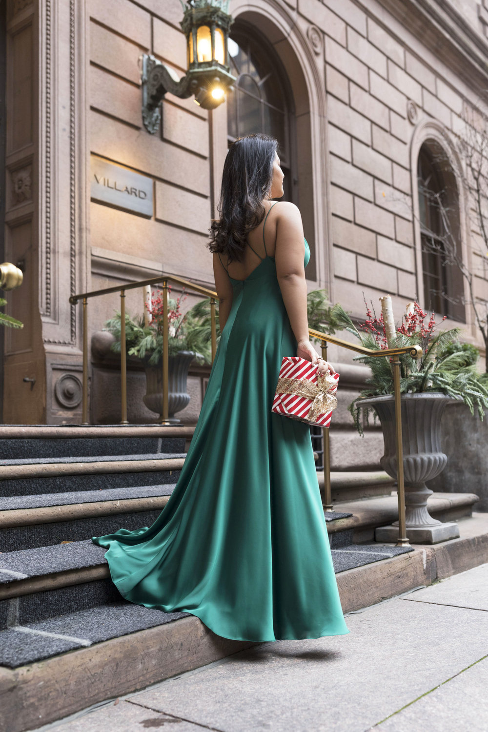 Krity S x Holiday Outfit x Forest Silk Aidan Mattox Gown 6.jpg