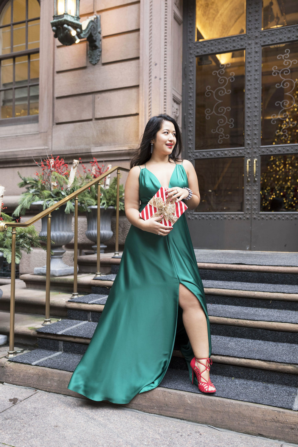 Krity S x Holiday Outfit x Forest Silk Aidan Mattox Gown 8.jpg