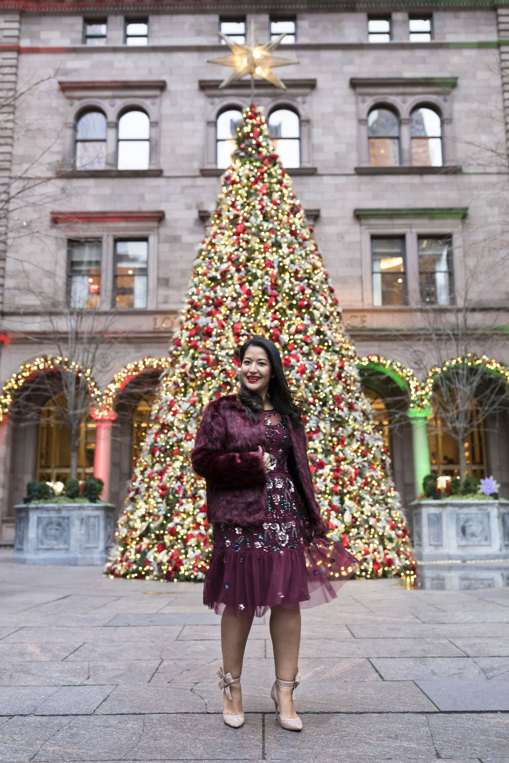 Krity S x Holiday Outfit x Aidan Beaded Burgundy Short Dress5.jpg