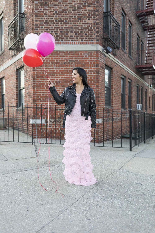 Krity S x Pink Ruffle Aidan Mattox Dress x Valentine's Day2.jpg