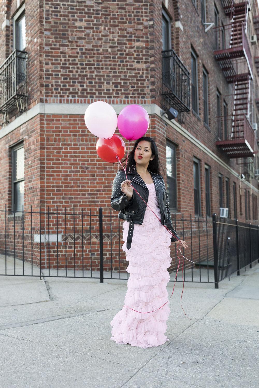 Krity S x Pink Ruffle Aidan Mattox Dress x Valentine's Day5.jpg