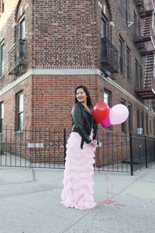 Krity S x Pink Ruffle Aidan Mattox Dress x Valentine's Day6.jpg