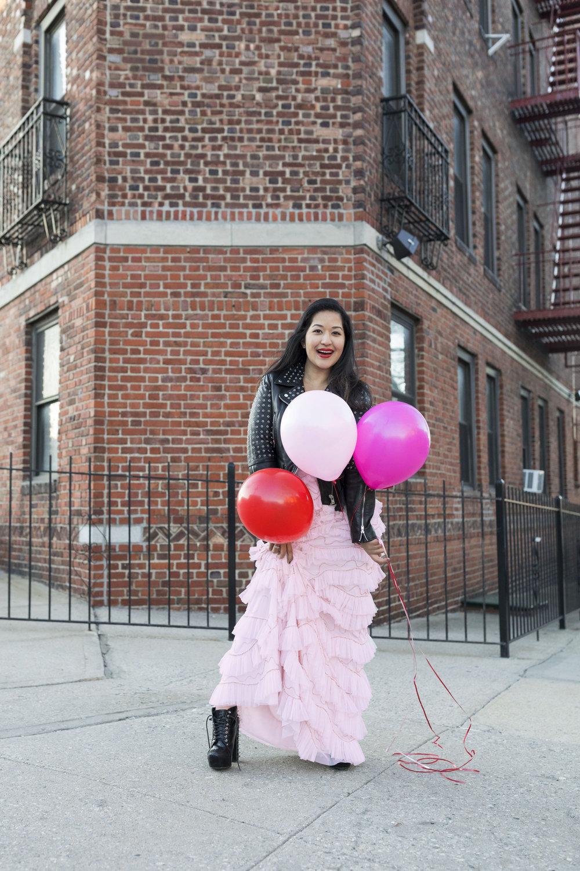 Krity S x Pink Ruffle Aidan Mattox Dress x Valentine's Day8.jpg