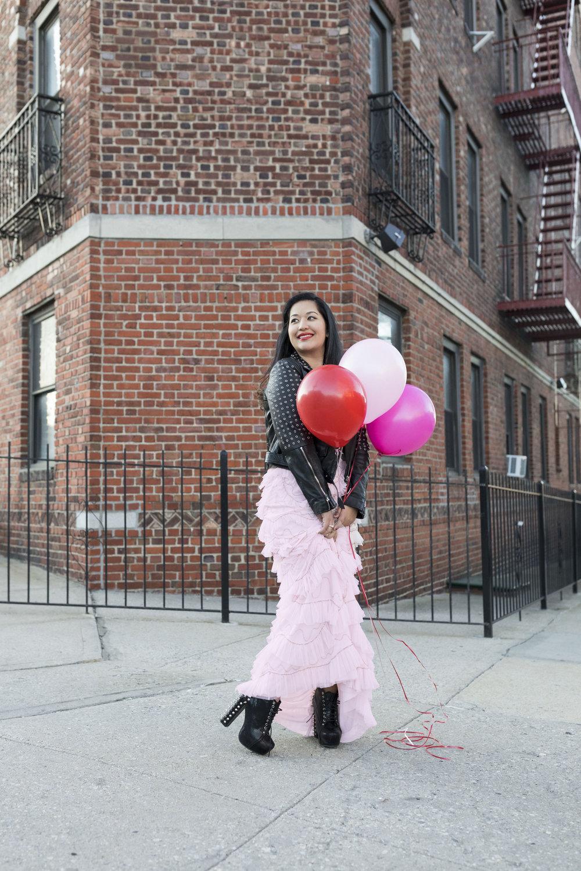 Krity S x Pink Ruffle Aidan Mattox Dress x Valentine's Day7.jpg