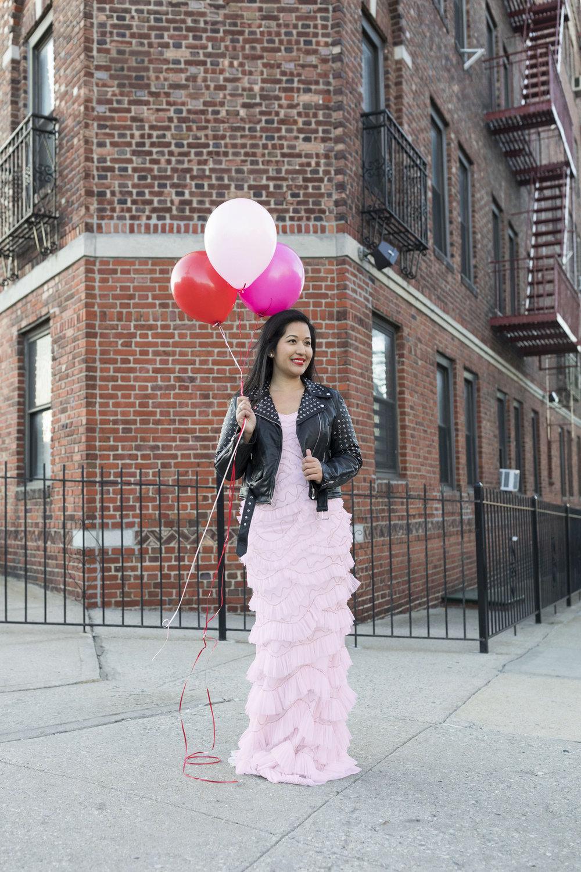 Krity S x Pink Ruffle Aidan Mattox Dress x Valentine's Day3.jpg