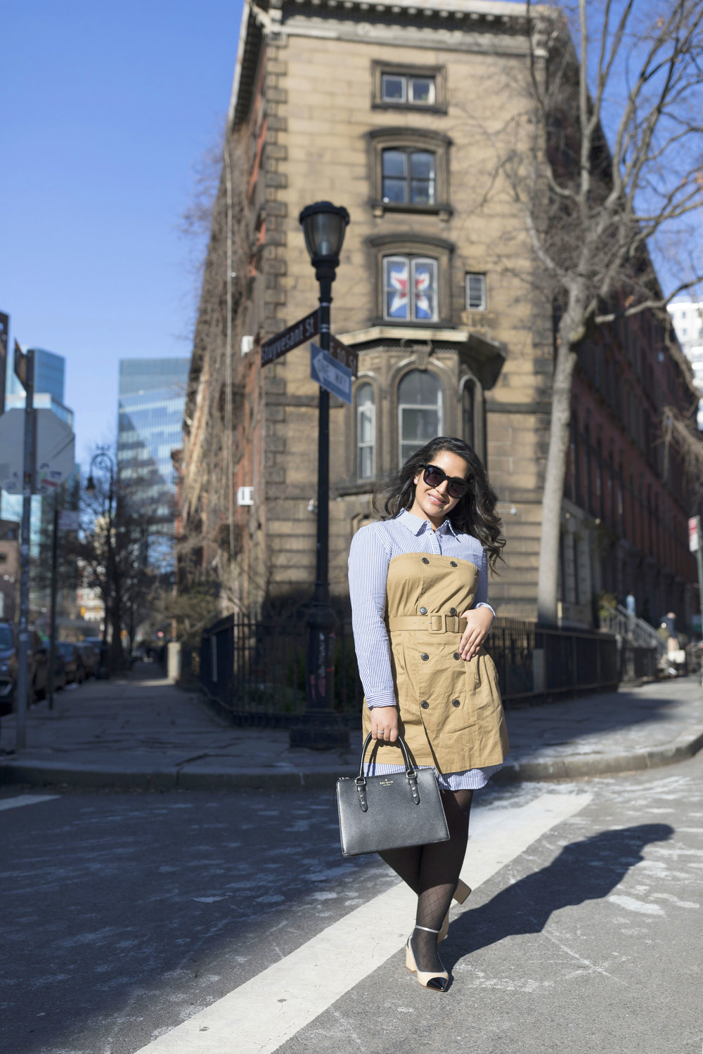 Spring Outfit Trench Coat Dress