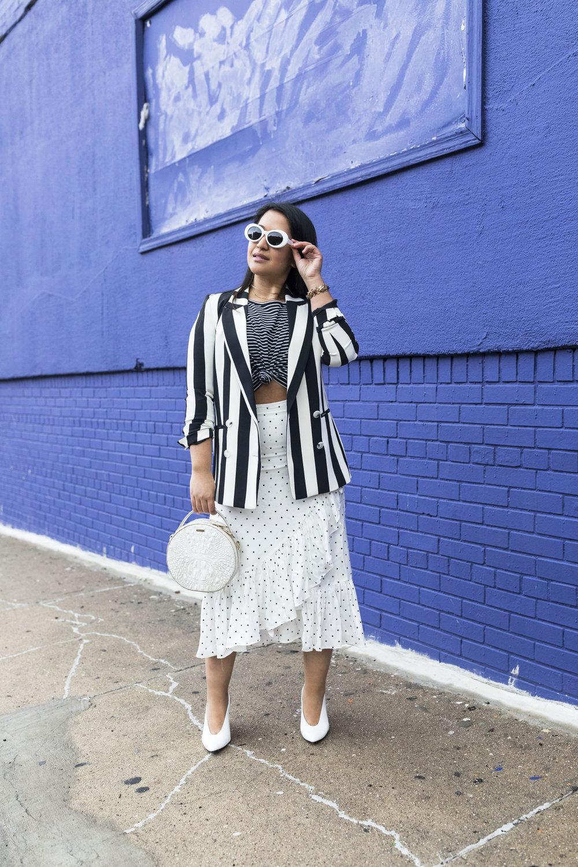How to wear a blazer Trendy Stripe Blazer Look