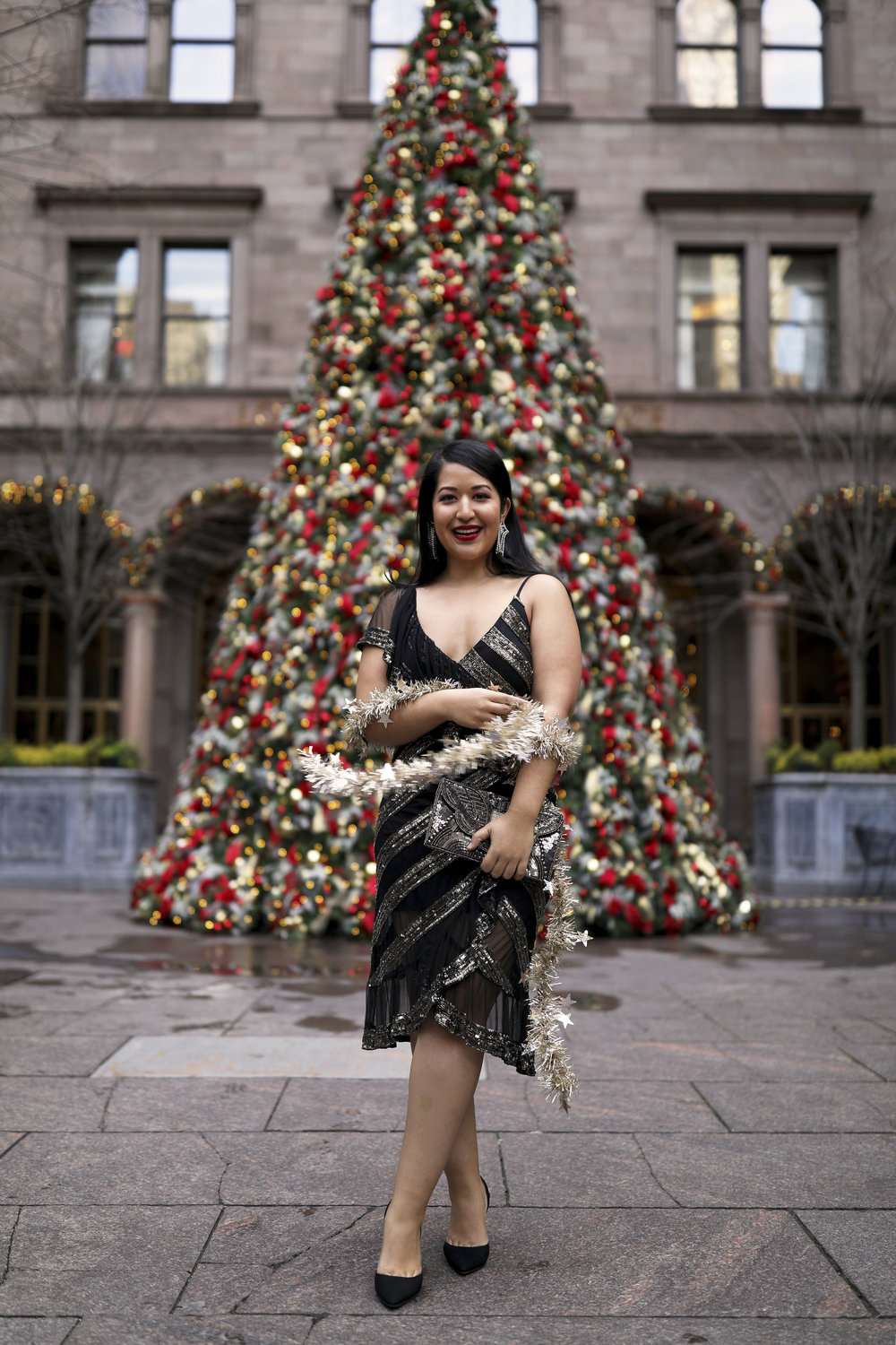Krity S x Christmas Outfit x Beaded Short Dress1.jpg