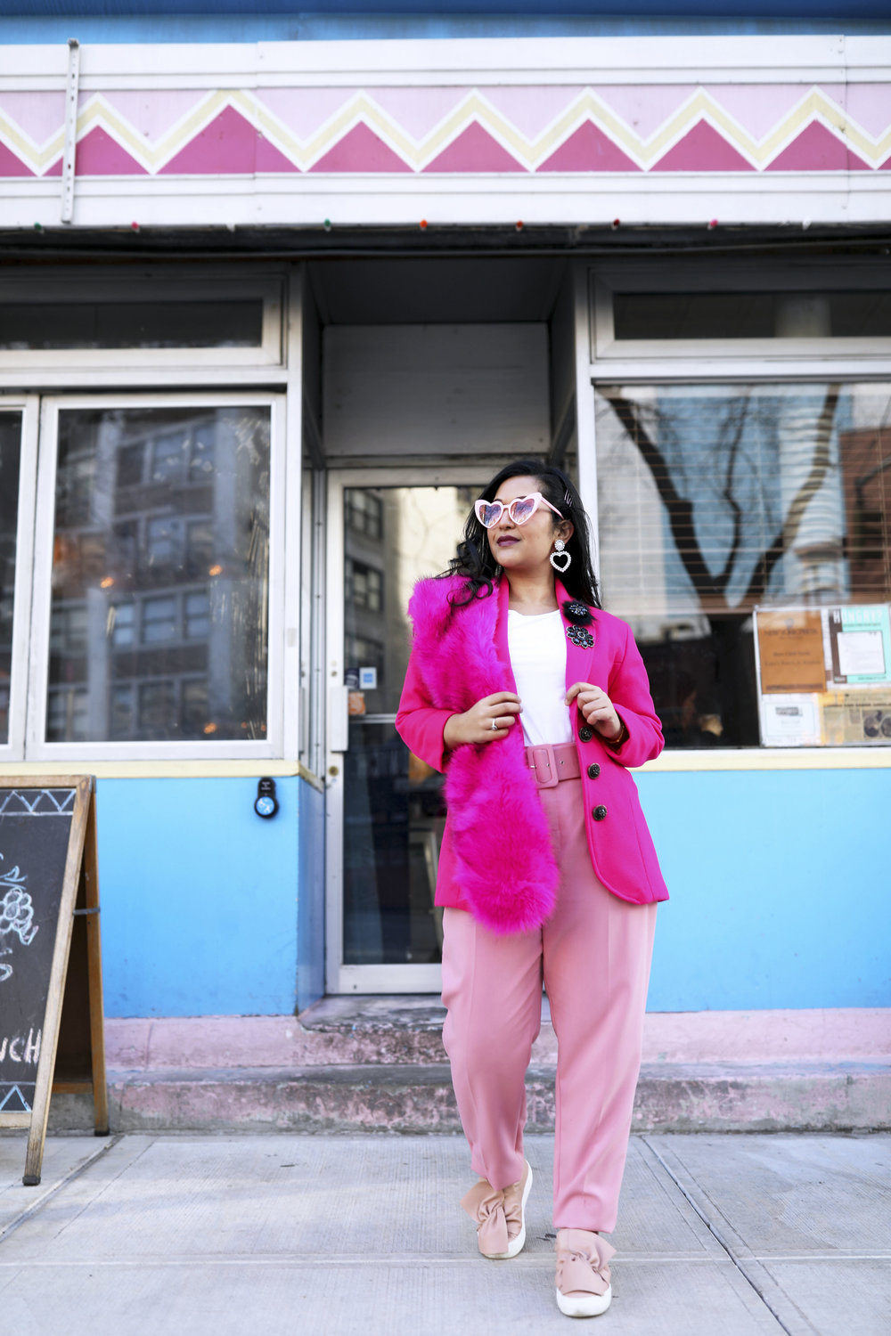 Pink Outfit- Pink Blazer Valentines Day Outfit