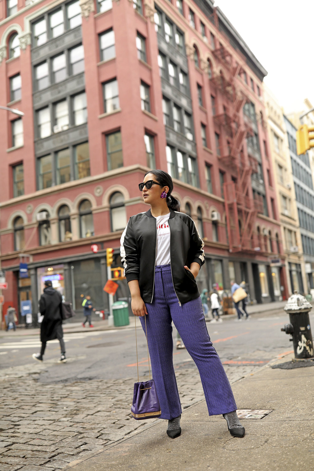 Purple Pants Casual Suit Look Bomber Jacket_1.jpg