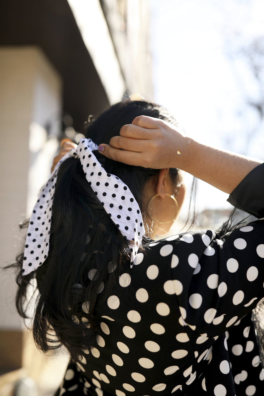 Black and White Polka Dot Outfit Parisian Style_ 8.jpg