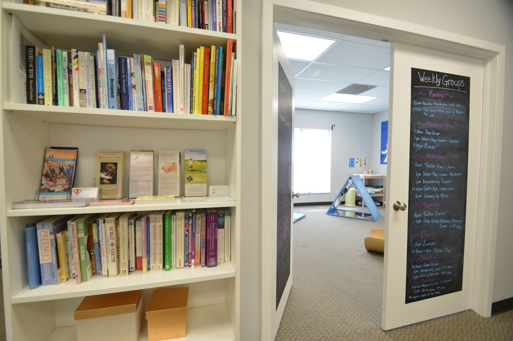 Lending Library and Play Room Doors