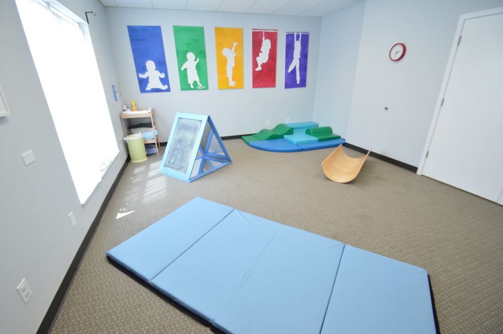 The playroom has a changing table so parents can change their babies with out having to leave the room.