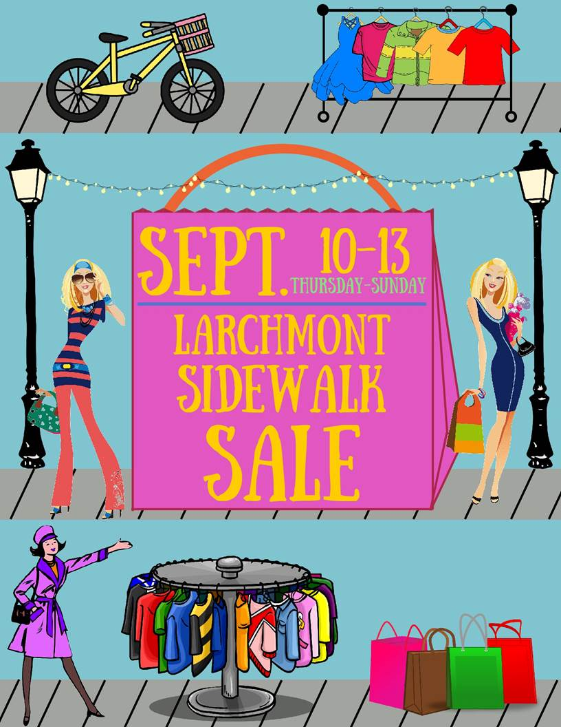 larchmont sidewalk sale