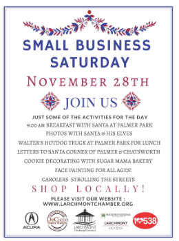 Small business saturday larchmont