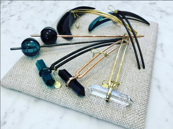 Add some extra sparkle to your hair with these Colette Malouf hair sticks! These are super cute and will make your hair look like a million bucks! Available at mDRATTELL