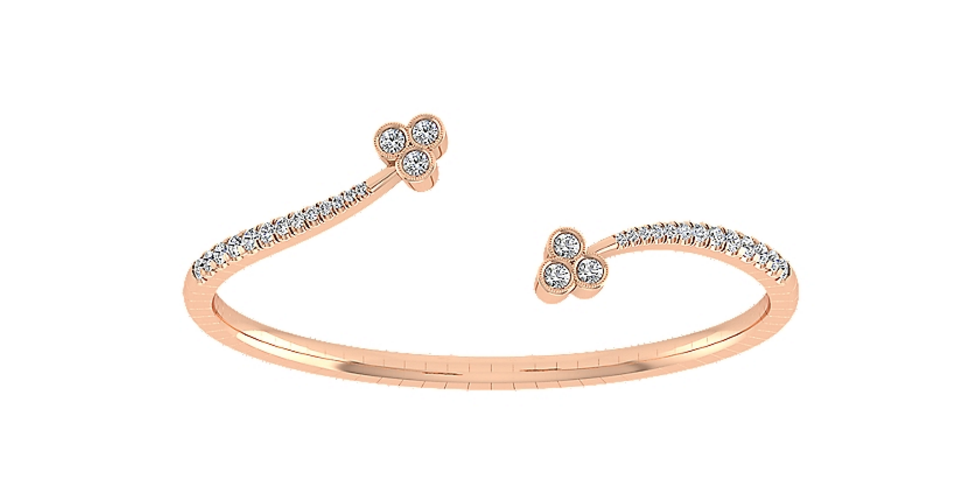 Up your bangle game with this 14k Pink Gold Demur! Available at Tres Magnifique