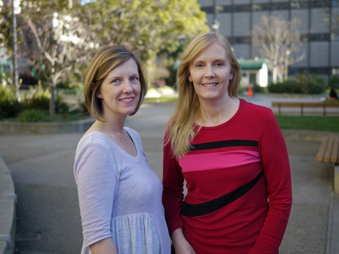 Wildflower Health co-founders Leah Sparks (left) and Katherine Bellevin (right).