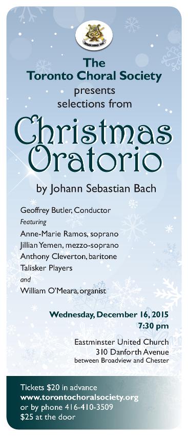 J.S. Bach's Christmas Oratorio