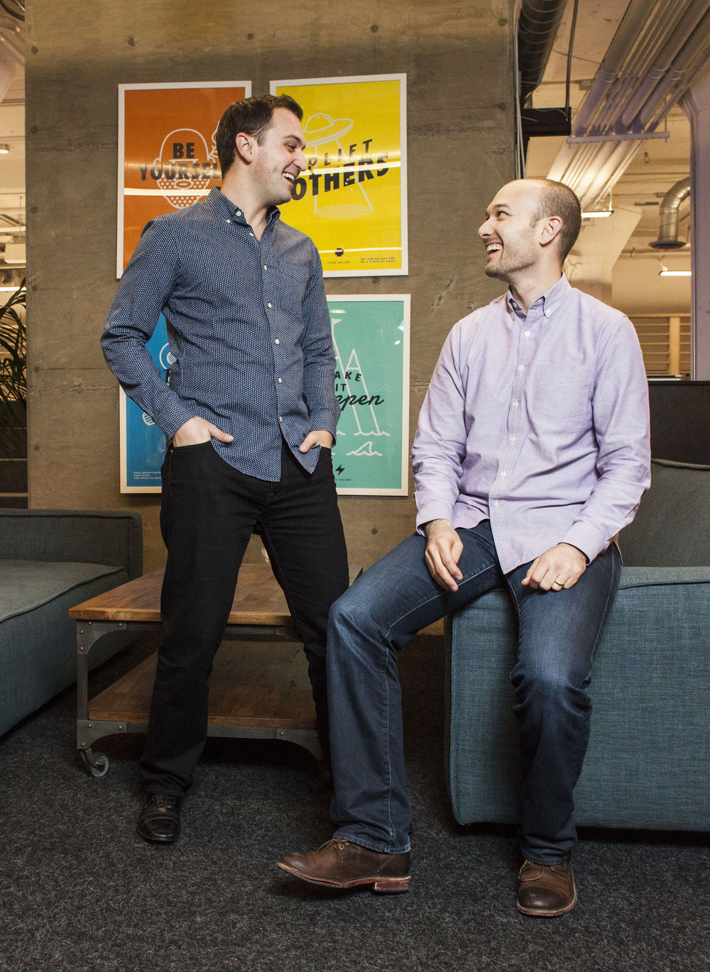 Lyft Founders John Zimmer & Logan Green for The New York Times