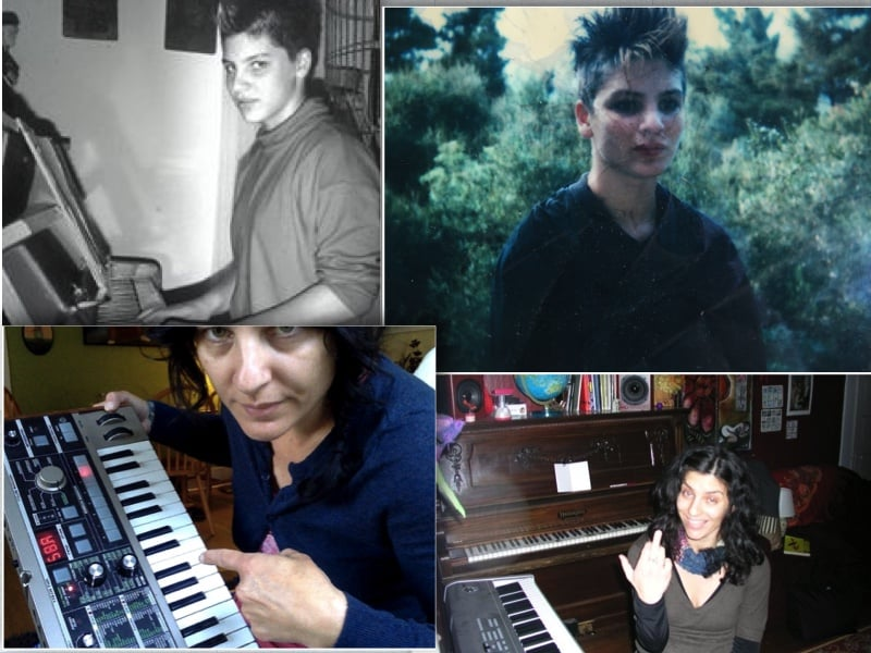 Clockwise from Left to right: My teenage self at the piano, a place where the sounds of chaotic family life disappeared, myself at 14 at home in Santa Barbara, more recently in Seattle, 2009 in Bellingham. Hear some of my music project  Halfmoon , and  Isle of Horses.