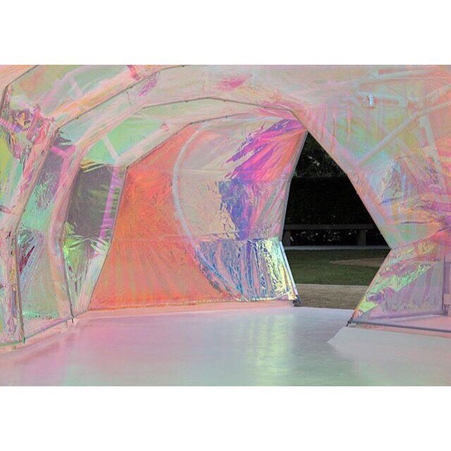 Awesome Wednesday inspiration from  @designmilk installation @serpentineuk by #selgascano 💞💞💞 the colors got us feelin #sometypeofway #inspiration #architecture #design #installation #interiors #color #irridescent