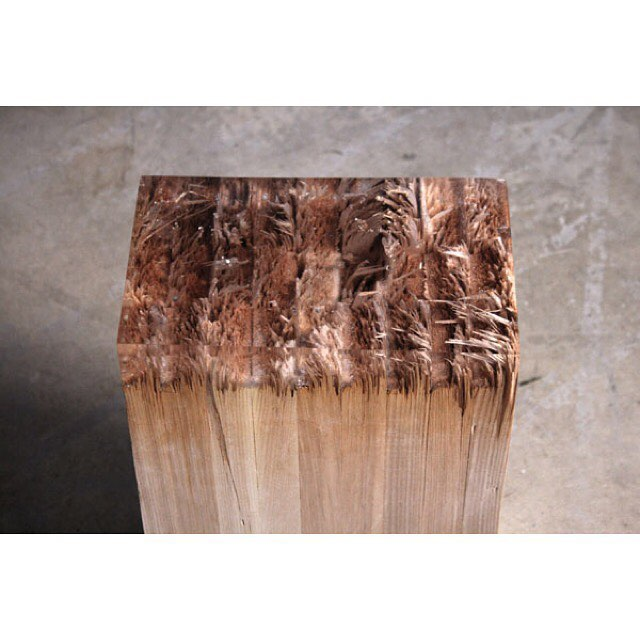 Feeling inspired by this 'broken' series by Jack Craig, made from pine and resin they are raw yet super polished. 🌲 #inspiration  #design #bench #table #pine #resin #materials #texture #wood #furniture #jackcraig #rad