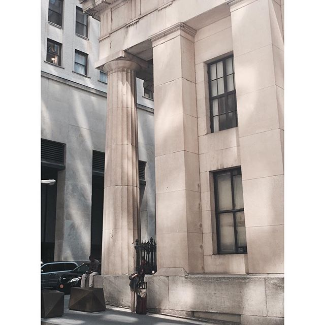 Fluted and lit #ancient #fidi #newyork #humanscale #column #classical #light #architecture
